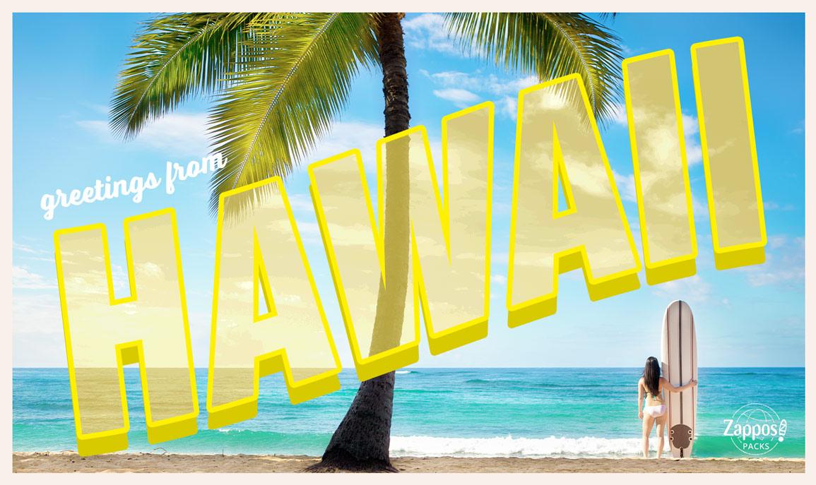 Woman surfing in Kauai