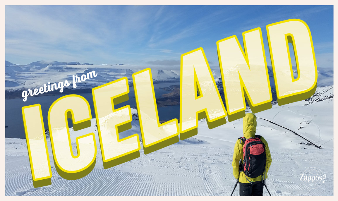 Woman skiing in Iceland